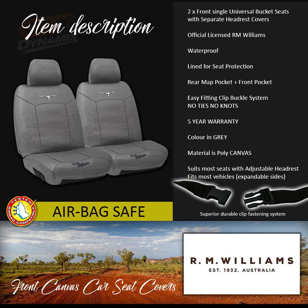 Heavy Duty Black Waterproof Car Seat Covers BUCKET seats 2 x Fronts...
